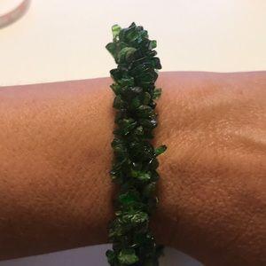 JTV Green Chrome Diopside Rhodium Bracelet